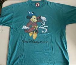 Vintage 1996 Walt Disney World T Shirt 25th Anniversary Size XXL Green/Teal - $24.99