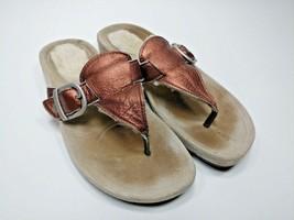 UGG Australia Gypsy Womens Size 9 Thong Sandals Copper Metallic Flip Flops Shoe - $41.13