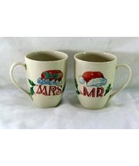 Lenox Holiday Dimension Shape Mr And Mrs Santa Mugs - $14.39