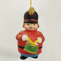 Christmas Ornament Soldier Lot Drummer PalaceGuard Ceramic Windchime Russ Berrie - $13.84