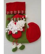 3D Santa Claus Christmas Stocking  New - $9.00