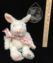 Pig Bath And Body Works Plush Stuffed Faux Stained Glass Pig Window Sun Catcher - $12.86