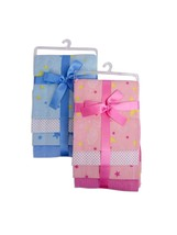 Bambini Baby Printed Four Pack Receiving Blanket - $20.99
