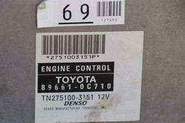 06 Tundra 4.0L 4x2 6sp Manual MTX ECM ECU Engine Control Module 89661-0C710 image 3