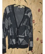 vintage 70s  mens  grandpa    cardigan by the mens store  Sears atomic d... - $35.00