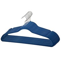 Home Basics Velvet Hangers Non-Slip Hanger-10 Pack-Clothes Hangers, Space Saving