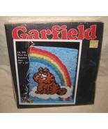 Great Vintage Millcraft GARFIELD The Cat Latch Hook Rug Kit - $57.87