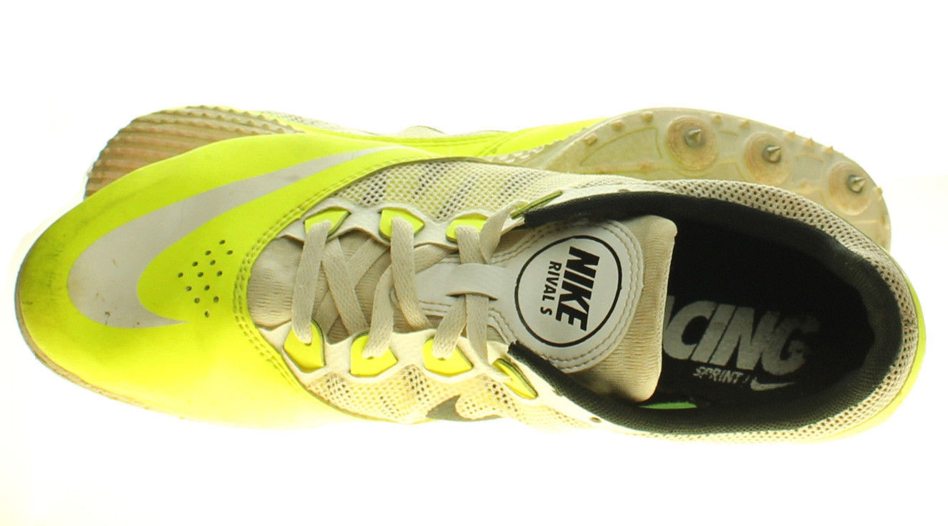 competitive price 996bf 4ca52 NIKE RIVAL S 616313-702 Track   Field Spikes Yellow White Mens Shoes Size 10