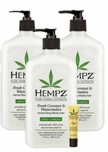 Hempz 3 pack Fresh Coconut & Watermelon Moisturizer lotion 17 oz+ Lip balm - $42.03