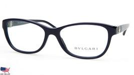 NEW BVLGARI 4082-B 5303 DARK BLUE EYEGLASSES GLASSES FRAME 54-16-135mm I... - $142.09