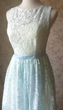 LIGHT BLUE High Low Lace Dress Sleeveless SomethingBlue Wedding Bridesmaid Dress image 5