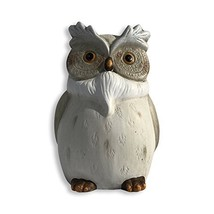 Perching Garden Owl Figurine, Hand cast, Painted and Carved Details, Kil... - $24.24