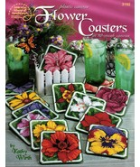American School Plastic Canvas Flower Coasters by Kathy Wirth Leaflet #3192 - $7.95