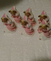 Hallmark 1994 item # QSM8117 Pink Mouse Figurines 6 in this Collection - $4.95