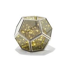 Decorative Geometric Terrarium Lantern - Hexagon Shape   Warm White LED ... - $77.99