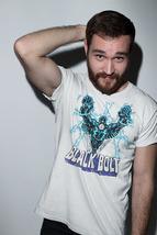 Black Bolt T-shirt comic book retro superhero 100% Distressed cotton graphic  image 3