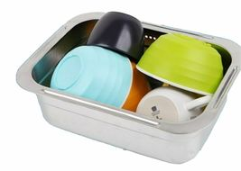 Incoc Stainless Steel Basin Bucket Dishpan Dish Washing Bowl Basket (Small) image 4