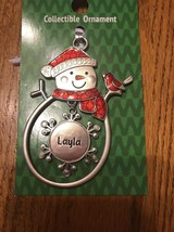 "Christmas Tree Ornament Snowman ""Layla"" Vintage Rare Ships N 24h - $11.86"
