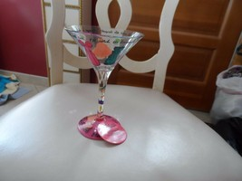 "Lolita ""always a Bridesmaid"" martini glass - $15.00"
