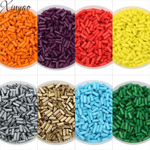 XINYAO Approx. 1600Pcs/lot Tube Glass Beads Seedbeads Crystal Czech Glas... - $23.57+