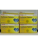 CVS health Caffeine Tablets 200 mg Alertness Aid 40 Tablets LOT of 4 Exp... - $14.84