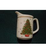 Christmas Tree Creamer, Vintage Holiday Creamer, George Good Japan - $12.50