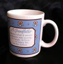 "1987 Hallmark ""A Grandfather Knows How To Laugh, Love"" Coffee Cup Mug 8 ... - $14.73"
