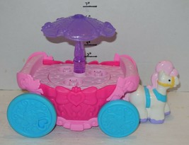 Fisher Price Disney Little People Pink Purple Princess Carriage Carousel... - $23.38