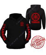 YAMAHA IN RED RAGLAN HOODIE Racing Motocross ATV Logo YZF Hooded Sweatshirt R1 - $34.60 - $39.59