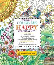 Portable Color Me Happy Coloring Kit: Includes Book, Colored Pencils and... - $6.66