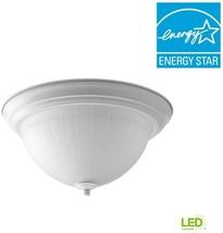 1-Light Flush Mount Integrated LED 13.25 in. White (One 17-Watt LED Included) - $72.95
