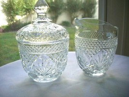 Cris D' Arques Antique Pattern Clear Crystal Cream & Sugar Set - $14.85