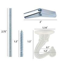 10 Sets Ceiling Hooks - Heavy Duty Swag Hook with Steel Screws Bolts and Toggle  image 3