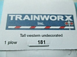 Trainworx Stock #181 Snowplow Tall Western Undecorated N-Scale image 2