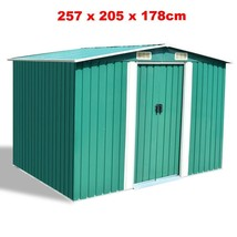 Outdoor Storage Shed Large Metal Kit Garden Heavy Duty DIY Tool Bike Law... - $393.27
