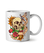Dead Head Rose Knife Stab NEW White Tea Coffee Mug 11 oz | Wellcoda - $15.99