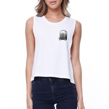 Memory Of When I Cared Crop Tee Sleeveless Shirt Junior Tank Top - $14.99