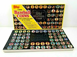 Vintage 1989 Topps Baseball Coins Complete Set 60 Coins w/ Display Holde... - $18.95