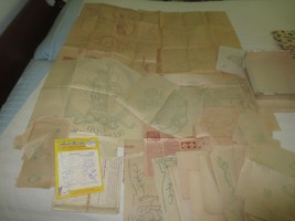 LARGE ASSORTMENT Vintage EMBROIDERY TRANSFERS - Numerous Patterns - 1 lb. - $15.00
