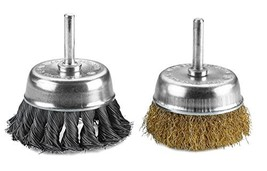 Katzco Wire Wheels Brush - 2 Pack Knotted & Crimped Cup For rust removal... - $14.92