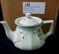 Autumn Leaf Bellevue Teapot Hall China Jewel Tea Dinnerware Pot 2004 NALCC - $83.50