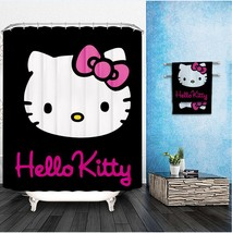Hello Kitty Shower Curtain Pattern Customized Shower Curtain Waterproof ... - $34.88