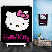 Hello Kitty Shower Curtain Pattern Customized Shower Curtain Waterproof Bathroom - $34.88