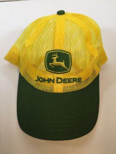 32ddbec921c22 12. 12. Previous. John Deere Green   Yellow Baseball Trucker Mesh Cap Hat  Adjustable Snapback
