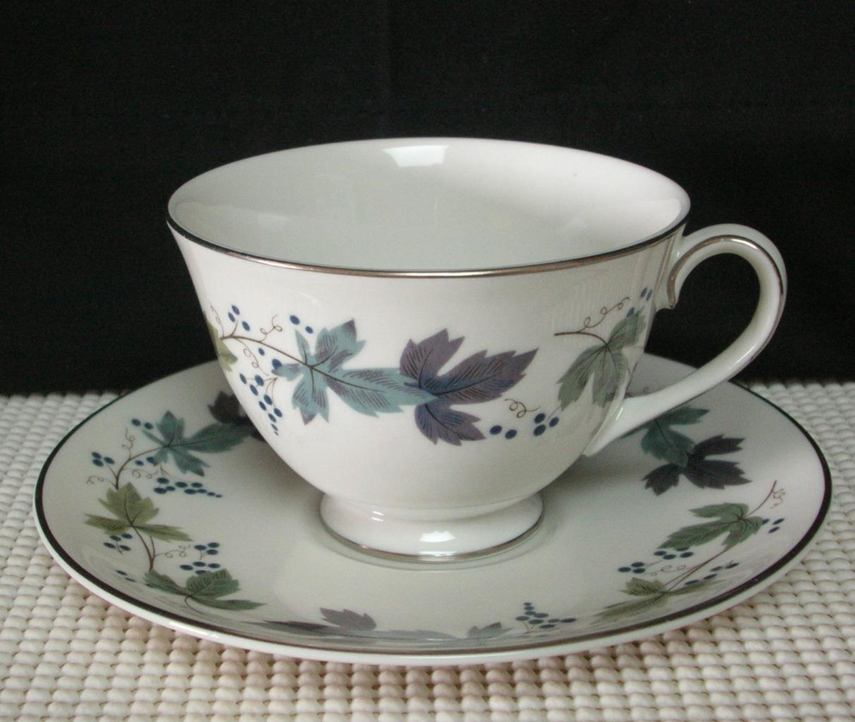 Primary image for BURGUNDY TC1001 by  Royal Doulton TEA CUP & SAUCER (s) Bone China EUC