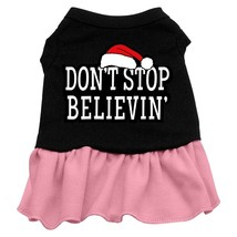 Don't Stop Believin' Screen Print Dress Black with Pink XXXL (20) - $13.48