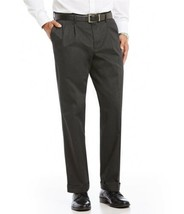 Tommy Hilfiger Mens Pants Charcoal Gray Pleated 100% Wool Size 34 X 31 - $65.45
