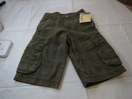 Lee boy'shorts plaid NWT adjustable waist 7X R green olive cargo utility... - $16.02