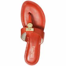 New With Box - MICHAEL KORS ~Size 5~ Logo Charm Hamilton Leather Flat Sandals - $79.99