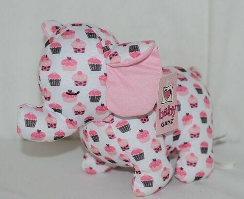 Baby Ganz Brand BG3192 Pink And Brown Ooh La La Plush Cupcake Elephant